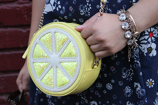 Kate Spade Lemon Cross Body Gold Arm Party