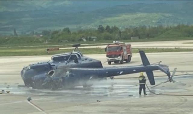 Un elicottero del Ministero degli Interni a Skopje si schianta, un ferito
