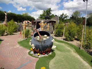 Congo Rapids Adventure Golf at Ufford Park Hotel near Woodbridge, Suffolk
