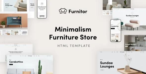 Best Minimalism Furniture Store HTML Template