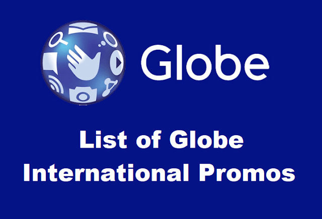 List of Globe International Promos 2019: