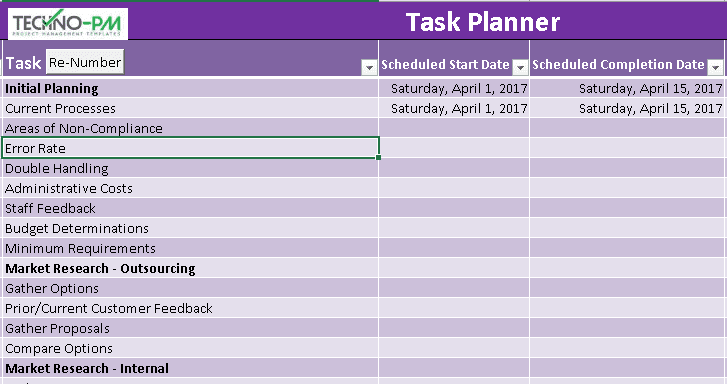 Payroll Implementation Project Plan Template Excel ...