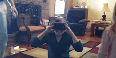 google cardboard heal woman eyes in 8 years