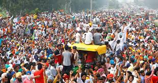 farmers protest,kisan andolan,Farmers Protest Delhi,Narendra Singh Tomar,Haryana CM,Singhu border,Delhi Police,Nirankari Samagam Ground,Farmer