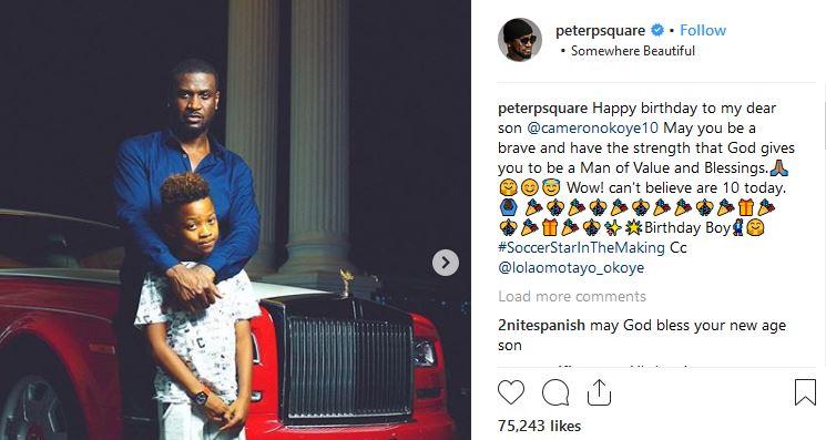Peter Okoye and wife celebrate their son as he clocks 10