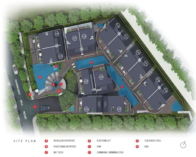 Chancery Hill Villas Site Plan