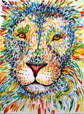 Leeuw kleurrijk