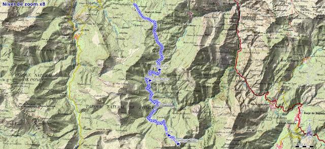 Mapa de la ruta del Bosque de Peloño