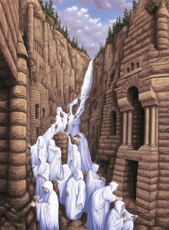 Ilusão de ótica - Cachoeira de Monges