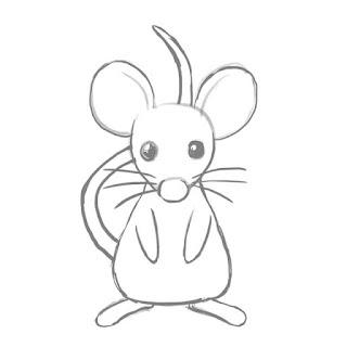 ネズミの下絵