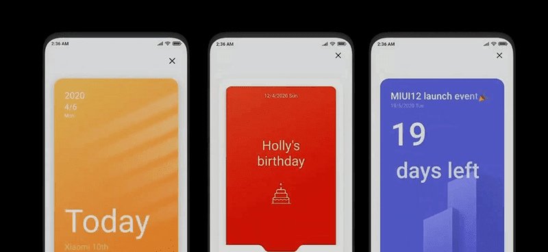 Reminder cards on your Calendar App