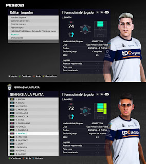 PES 2021 Faces Eric Ramírez & Leandro Contin by Diegotatoosparapes