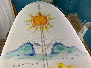 Custom surfboards & art by surfer shaper artist Paul Carter 7-2020