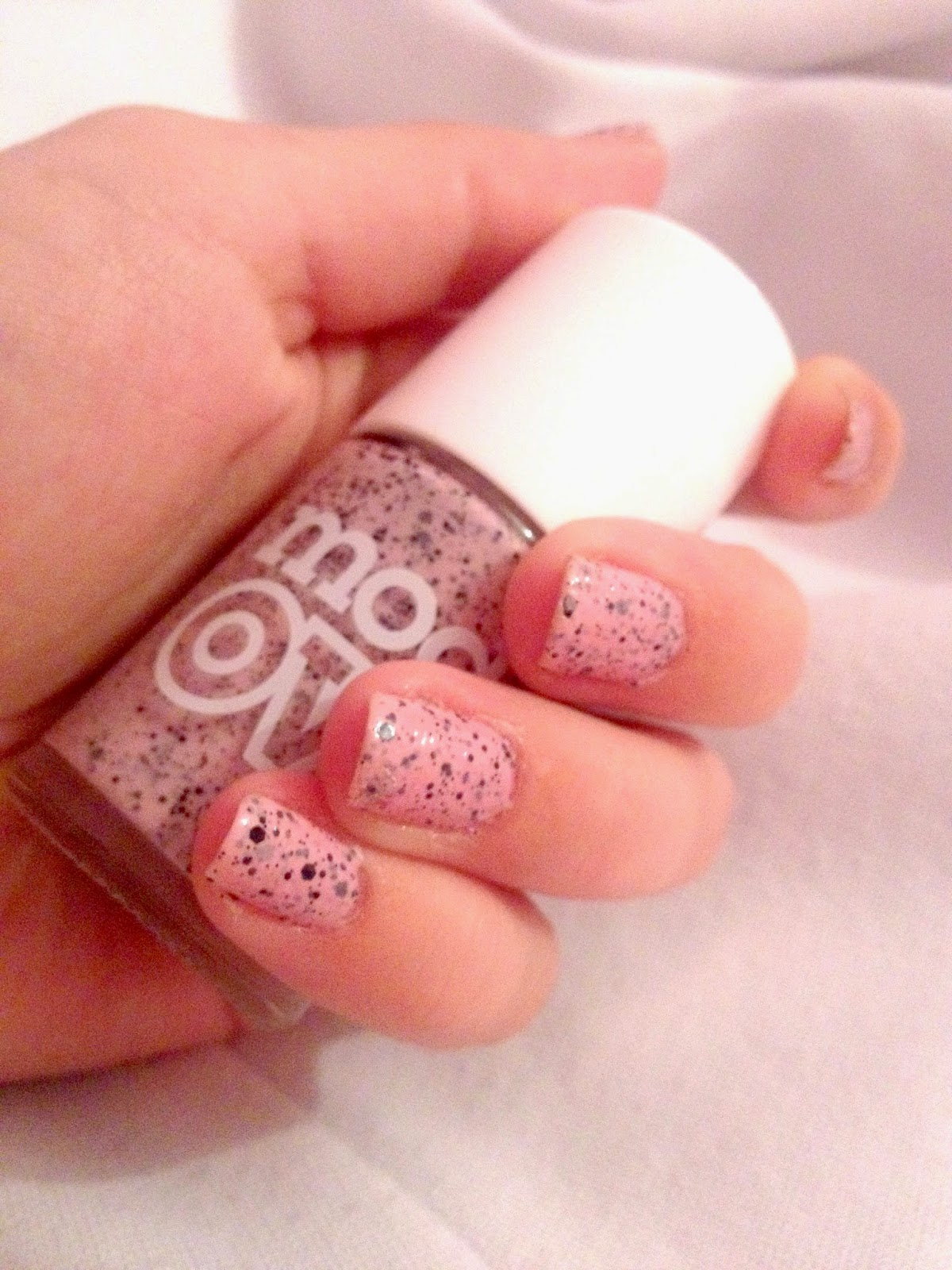 A picture of the Models Own Speckled Egg Nail Varnish in Dove