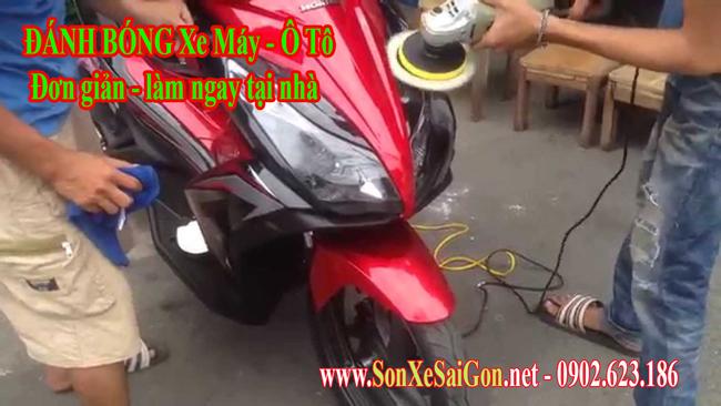 Đánh bóng xe máy ô tô bao nhiêu tiền