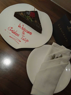 Welcome cake golden tulip holland batu