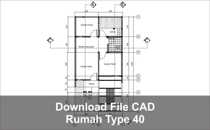 download rumah type 40 autocad dwg