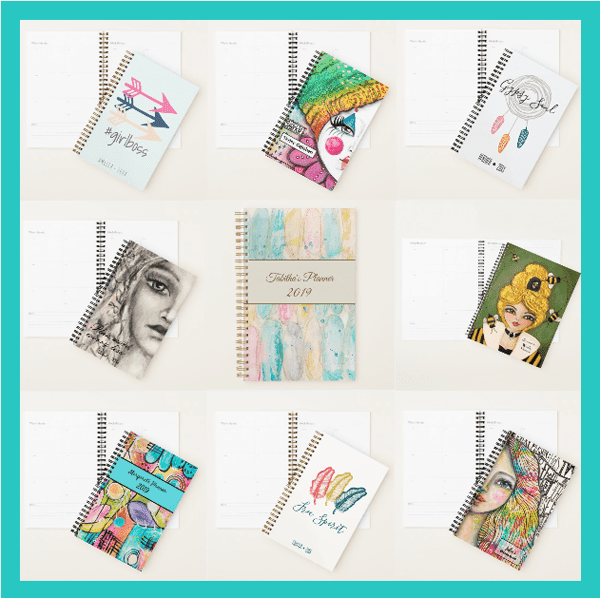 image of colorful artistic planners from melrose originals