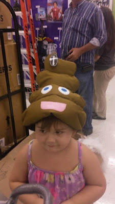 poop emoji, halloween costume, party hat, fun party city costume idea
