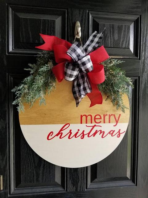 Idéias de Natal -  20 Enfeites de Porta Lindos