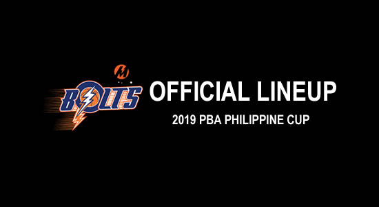 LIST: Meralco Bolts Official Lineup 2019 PBA Philippine Cup