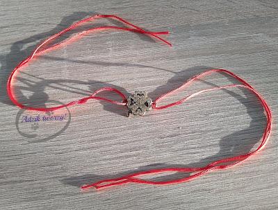 Adzik tworzy - bransoletka DIY ze sznurka z łącznikiem