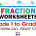 FRACTION WORKSHEETS for Grade 1 to Grade 6 (Free Download)