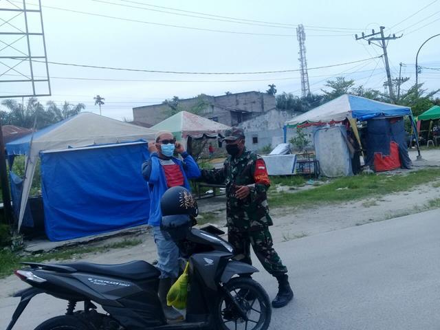 Tidak Bosan Personel Jajaran Kodim 0208/Asahan Berikan Himbauan Kepada Warga Binaan Tentang Pentingnya Pakai Masker