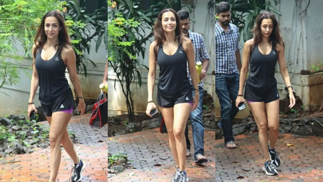Malaika Arora After her workout session