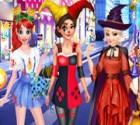 تلبيس الثلاث فتيات القبعه