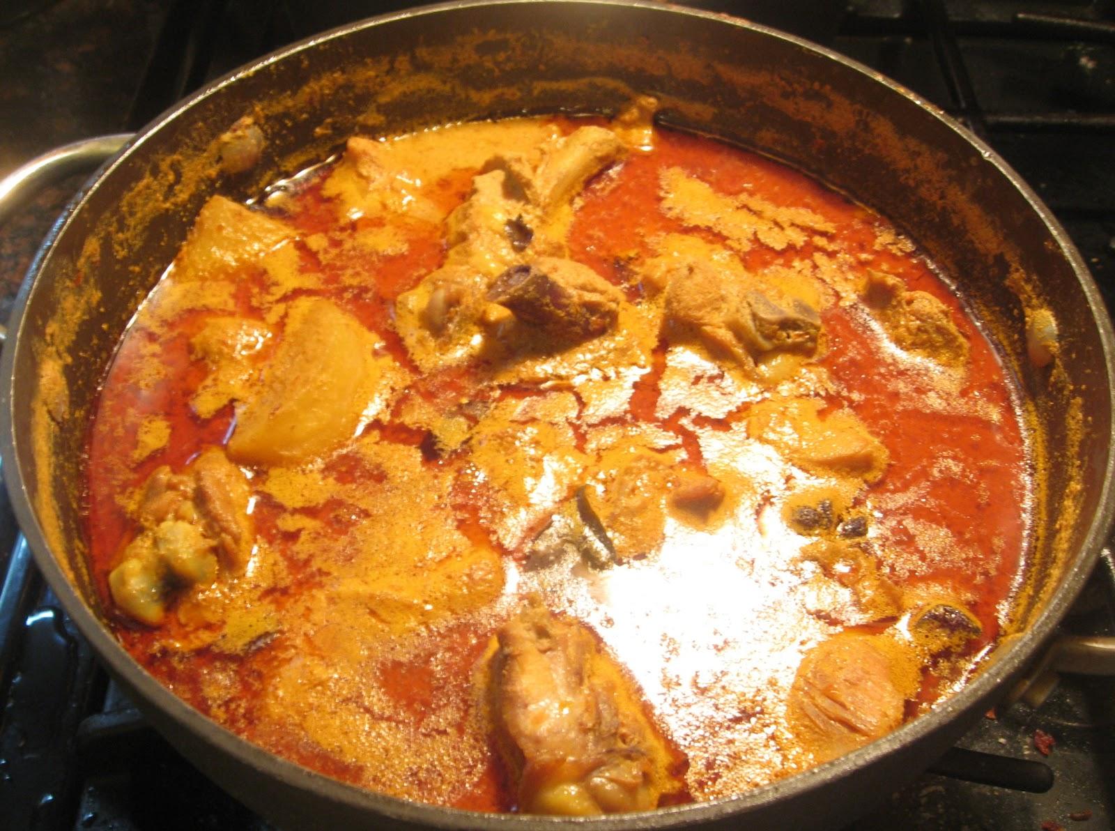 My Asian Kitchen: Curry Chicken with Tumeric Rice(Kari Ayam Dan Nasi Kunyit)