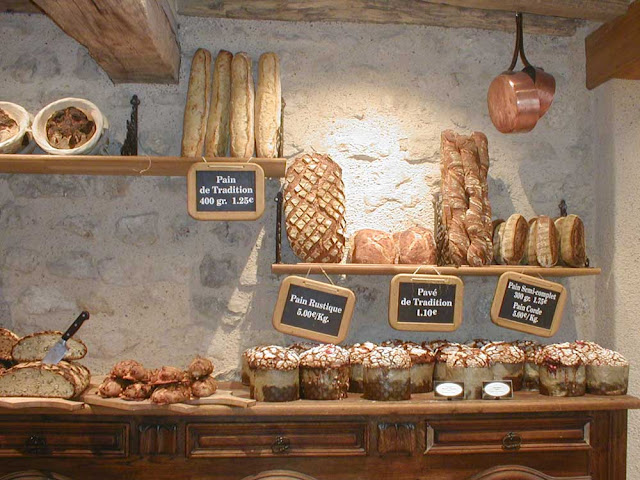 Traditional bread display, Loir et Cher, France. Photo by Loire Valley Time Travel.