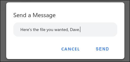 Snapdrop إرسال رسالة