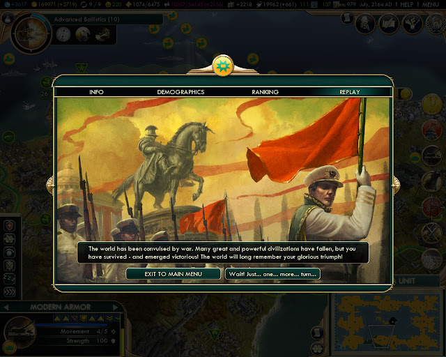 Domination Victory Screenshot | Civilization 5