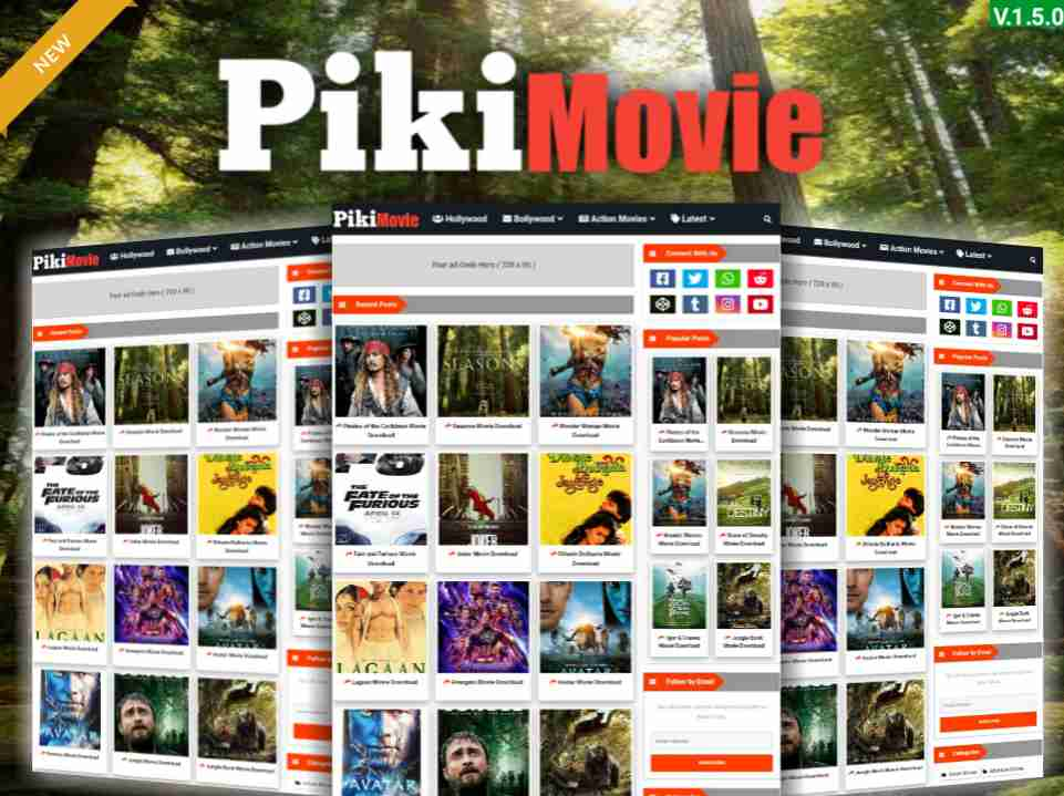 Piki Movie Template