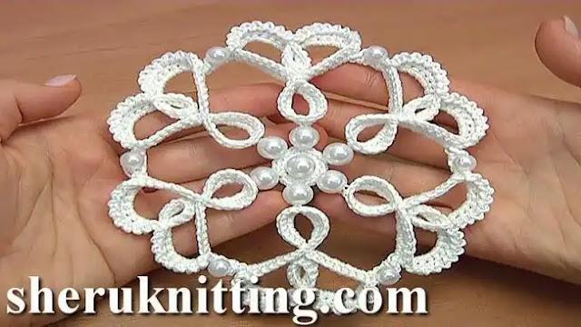 Tutorial Flor Copo en 3D a Crochet