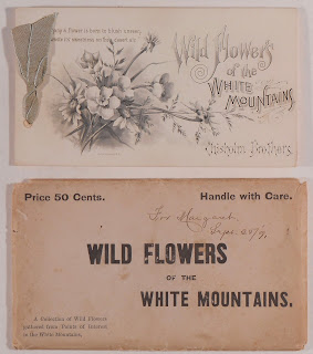 Cover and original envelope to Wild Flowers of the White Mountains