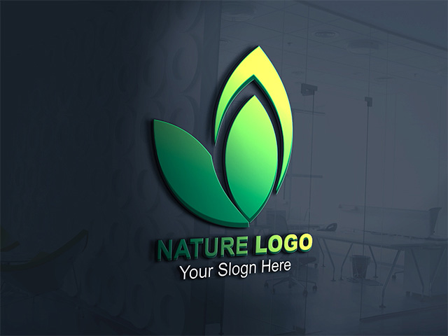 Green Nature 3D Logo Design Vector Cdr File Free Download -  Inqalabgraphic