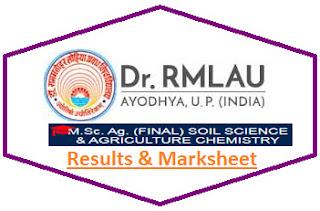 RML Avadh M.Sc Agri Final Soil Science & Agri Chem Result 2021