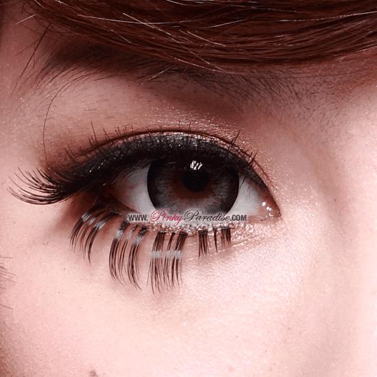 G&G Blossom Grey Circle Lenses Close-up
