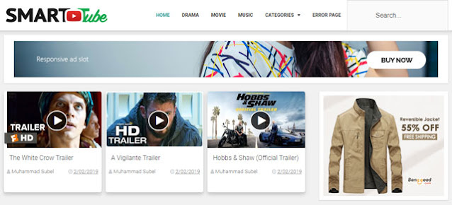Smart Tube Blogger Template For Free
