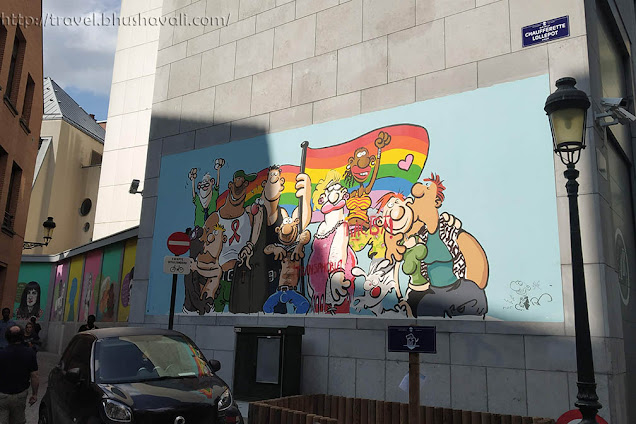 Brussels Comic Strip Walk - LGBTQ Murals