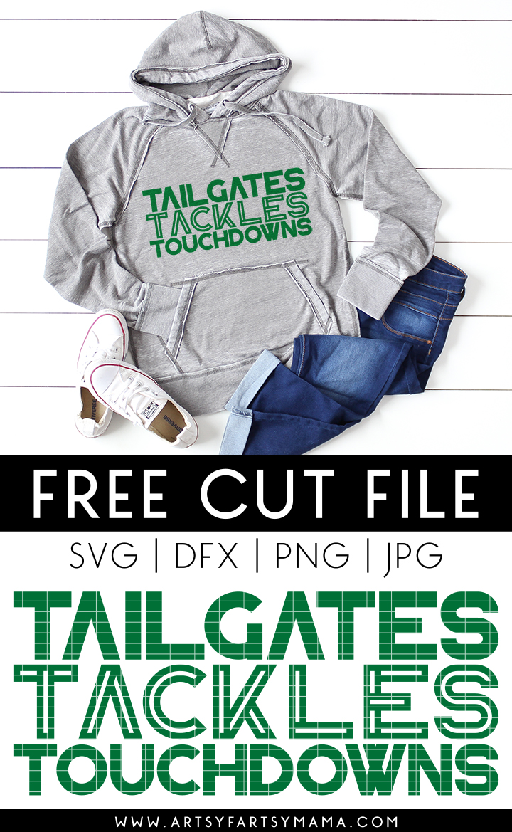 Tailgates Tackles and Touchdowns Shirt with Free Cut File #TotallyFreeSVG