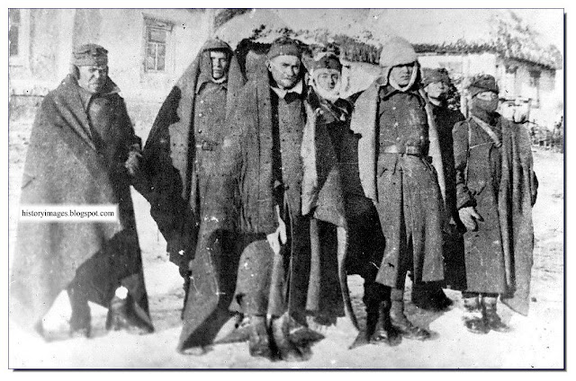 German prisoners  Ukrainian village. January 1944.