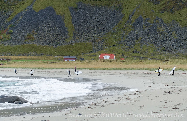 挪威,  羅浮敦群島, lofoten island, norway,Unstad beach