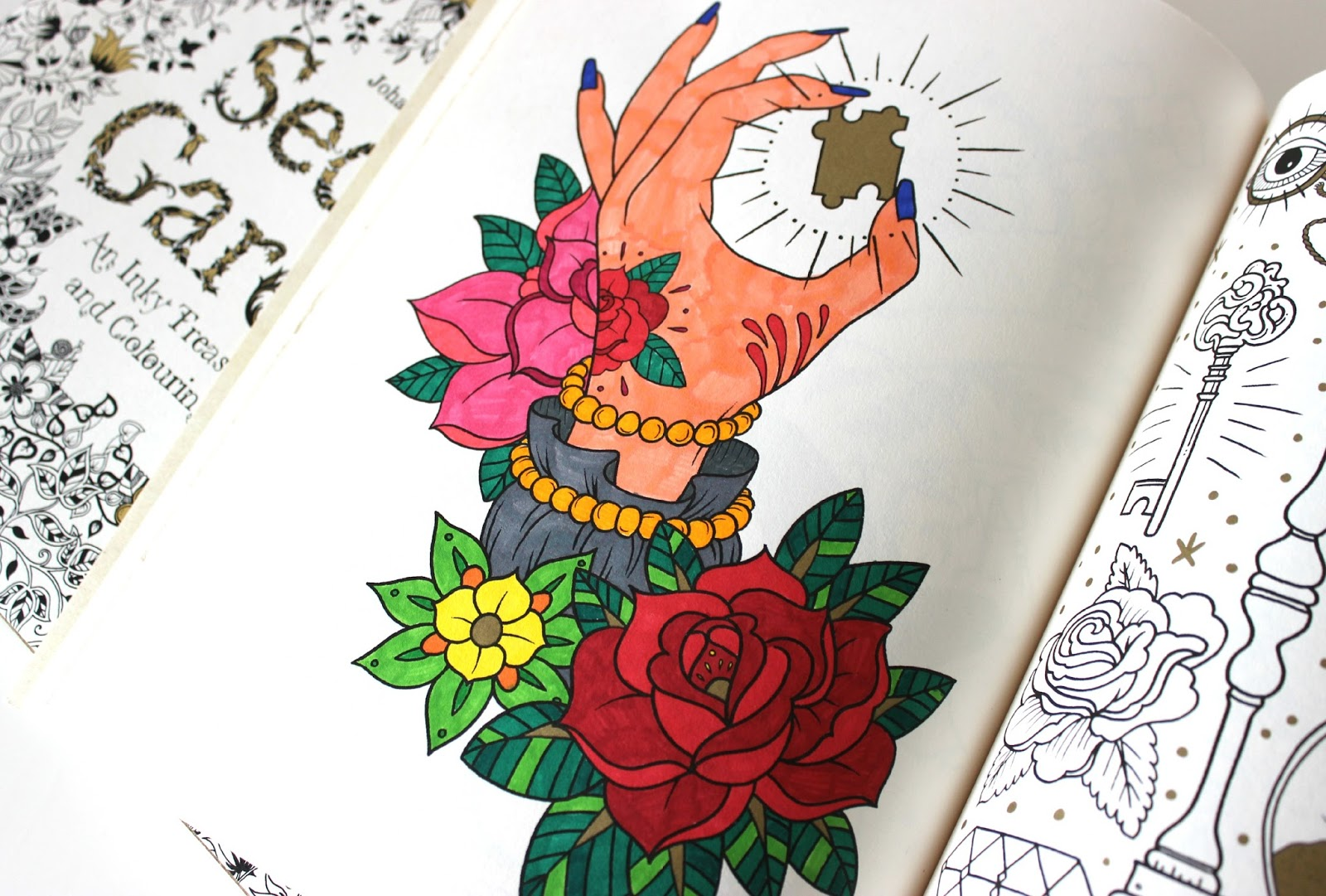 A picture of The Tattoo Colouring Book