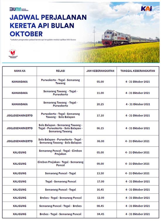 Kereta Api, Jadwal Kereta, KA Kamandaka, KA Joglosemarkerto, KA Kaligung, Kereta Komuter Jateng, Kereta Aglomerasi Jateng