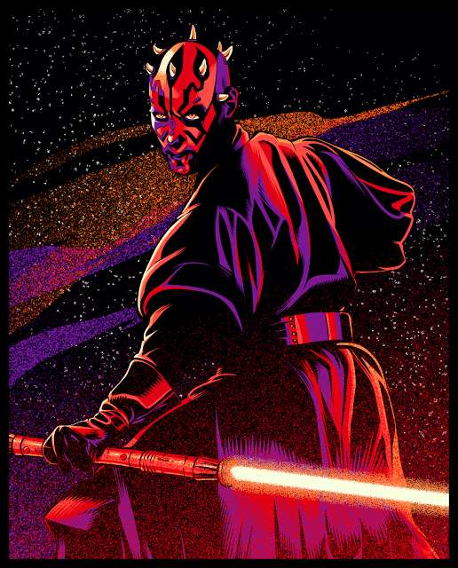 Cristiano Siqueira Star Wars Illustrations - Darth Maul