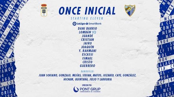 Oviedo - Málaga, alineaciones oficiales