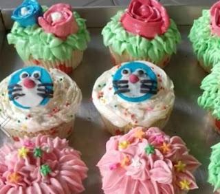 Cup Cake Motif Doraemon